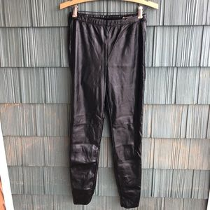 Blank NYC Faux Leather Legging Pants Black 27
